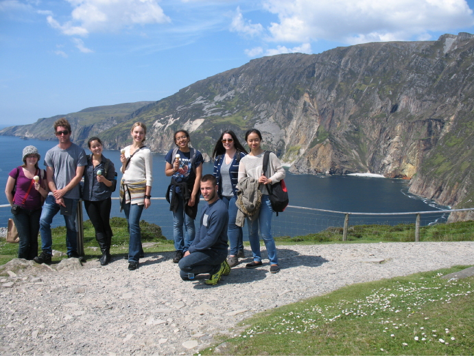 University students at Sliabh a' Liag.